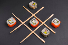 Tic Tac Toe Game With Sushi On...