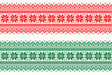Christmas Holiday Pixel Pattern. Traditional Christmas Star Ornament. Scheme For Knitted Sweater Pattern Design. Seamless Vector Background.