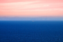 Solitary Boat In The Saronic Gulf Of Greece