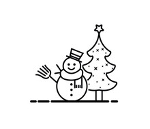 Illustrated Christmas Greeting...