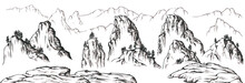 Set Of Chinese Mountains