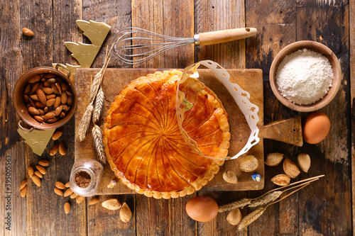 Foto galette des rois- epiphany cake with ingredient