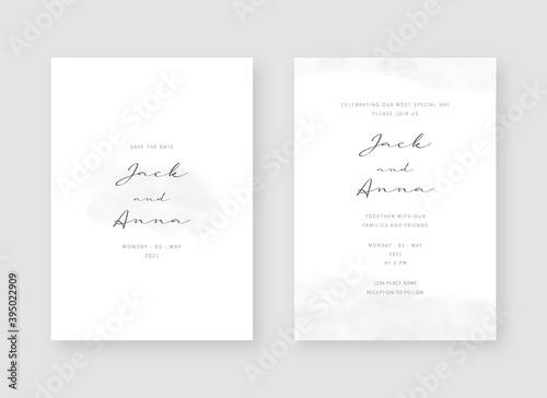 Invitation card template. Set of wedding invitation card template design. Vector decorative design background. - fototapety na wymiar