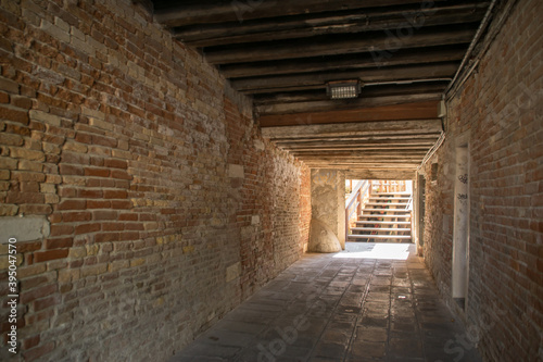 Photo covered alley