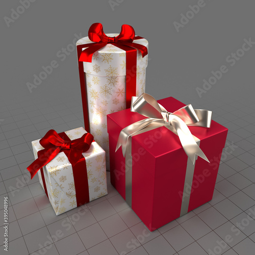 Wrapped Christmas gifts 1