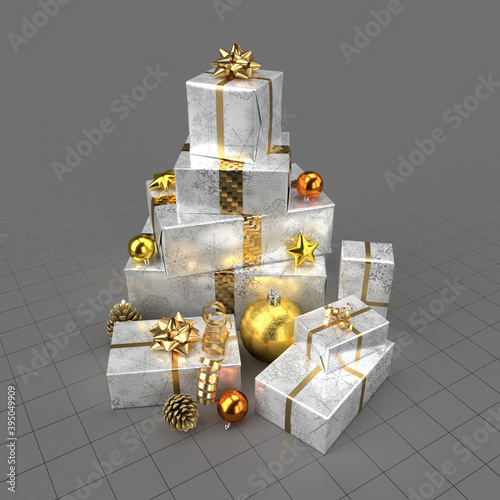 Christmas gifts with decorations 1