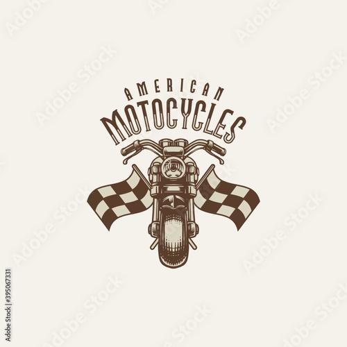 Vintage motorcycle club logo emblem Wallpaper Mural
