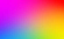 Abstract Beautiful Rainbow Smooth Color Gradient Background Texture. Defocused Blurred Motion Vibrant Rainbow Colors Modern Backdrop Template. Creative Colorful Digital Liquid Flow Vivid Spectrum.