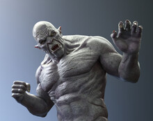 Fierce Ogre Attacking