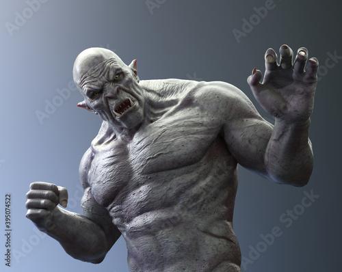 Fotografie, Obraz Fierce Ogre Attacking