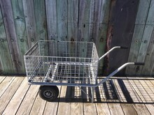 High Angle View Of Cart On Boardwalk
