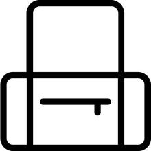 Duffle Bag Vector Line Icon