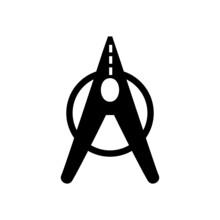 Hairpin Black Icon