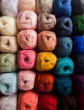 Color Palette Of Wool Yarn Balls Spectrum