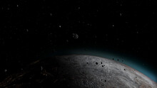 Asteroid And Meteors Heading To Planet Earth