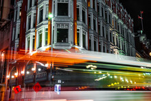 A Long Exposure Of A Bus Passi...