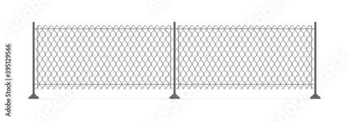 Slika na platnu Metal chain link fence