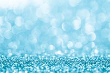 Close-up Of Blue Glitters