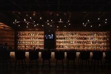 Interior Of Illuminated Bar