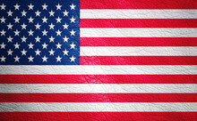 Full Frame Shot Of American Flag Painted On Leather