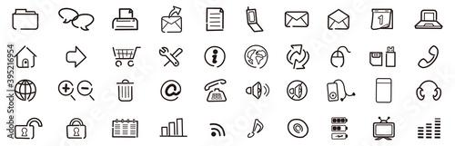 Fotografía Web icons, buttons, note Vector