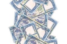 50 Nepalese Rupees Bills Flyin...