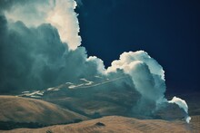 Scenic And Surreal View Of Clouds Over Tuscany Land