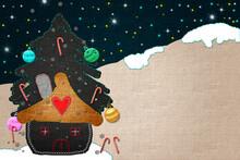 Cute Background Christmas Card...