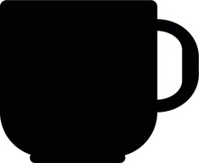 TEA CUP SILHOUETTE CLIP ART EPS VECTOR