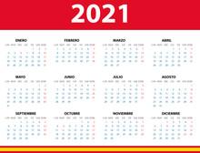 Calendario 2021 En Español Con Las Fiestas De España