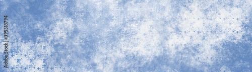 Slika na platnu Illustrazione di sfondo carta blu chiaro con morbida trama sfocata sui bordi in colore blu pallido pastello con centro bianco vuoto, sfondo vintage semplice ed elegante, web banner