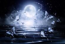 Illustration Of Impressive Night Light Scene