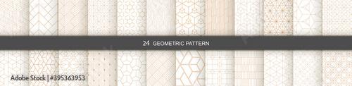 Set of vector Geometric seamless patterns Fototapeta