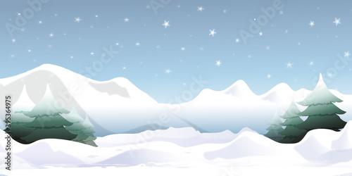 paysage-neige-jour #395364975