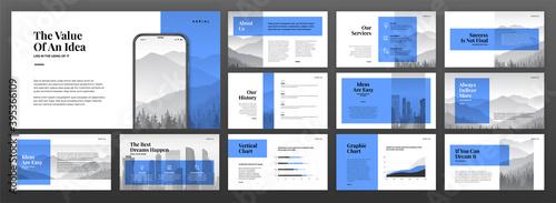 Fotografía Creative powerpoint presentation templates set