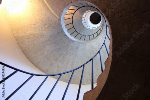 Fototapety, obrazy: scala a chiocciola a villa d'este - tivoli - roma