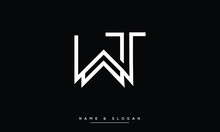 TW ,WT ,T ,W  Abstract Letters Logo Monogram