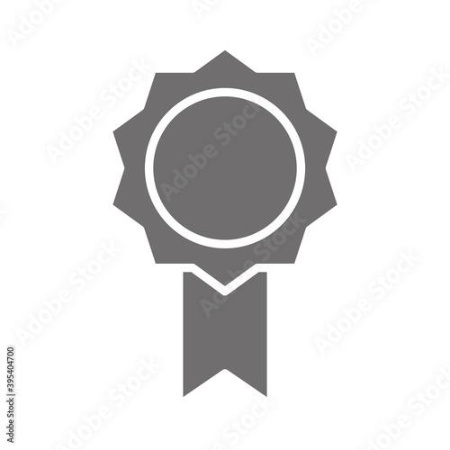 Obraz na plátně rosette quality award silhouette style icon icon