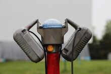 Close Up Of Drive-in Movie Speakers