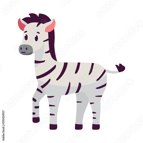 Fototapeta premium Isolated cartoon of a zebra - Vector illustration