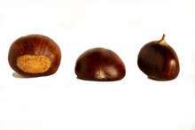 Group Of Chestnuts  Isolate On...
