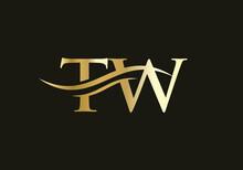 Premium TW Logo Design Based On Letter. TW Logo Design