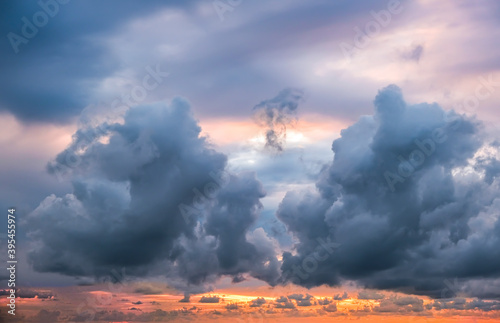 Obraz Dramatic sky, perfect for sky replacement, backgrounds, screen saver or any other application - fototapety do salonu