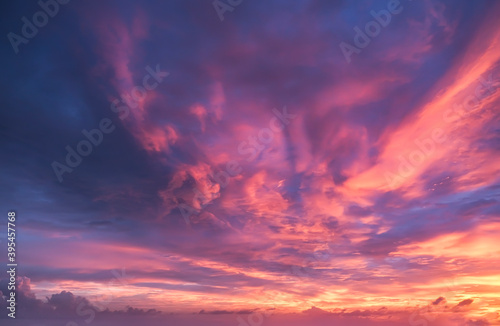 Fototapeta Dramatic sky, perfect for sky replacement, background or any other application obraz
