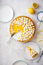 Lemon Tart With Italian Meringue