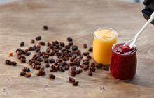 Lemon Curd And Raspberry Jam