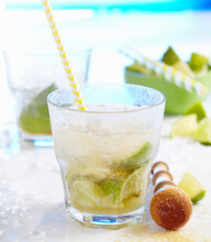 Non-alcoholic Caipirinha Made With Ginger Ale And Limes