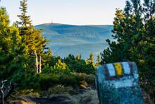 Tower On The Top Of Praded, View From Yellow Hiking Trail, Vresova Studanka, Hruby Jesenik