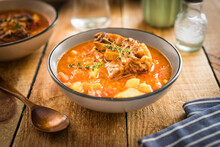 Beef Tail Soup With Potatoes And Thyme