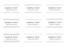 シンプルなフレーム・枠のセット/イラスト/線/飾り/装飾/見出し/タイトル/素材
